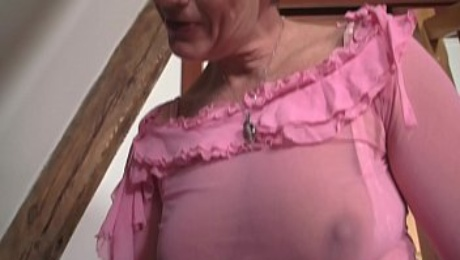 Hairy old m.-inlaw sucks and rides his big cock